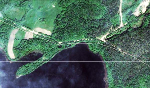 озеро, карта