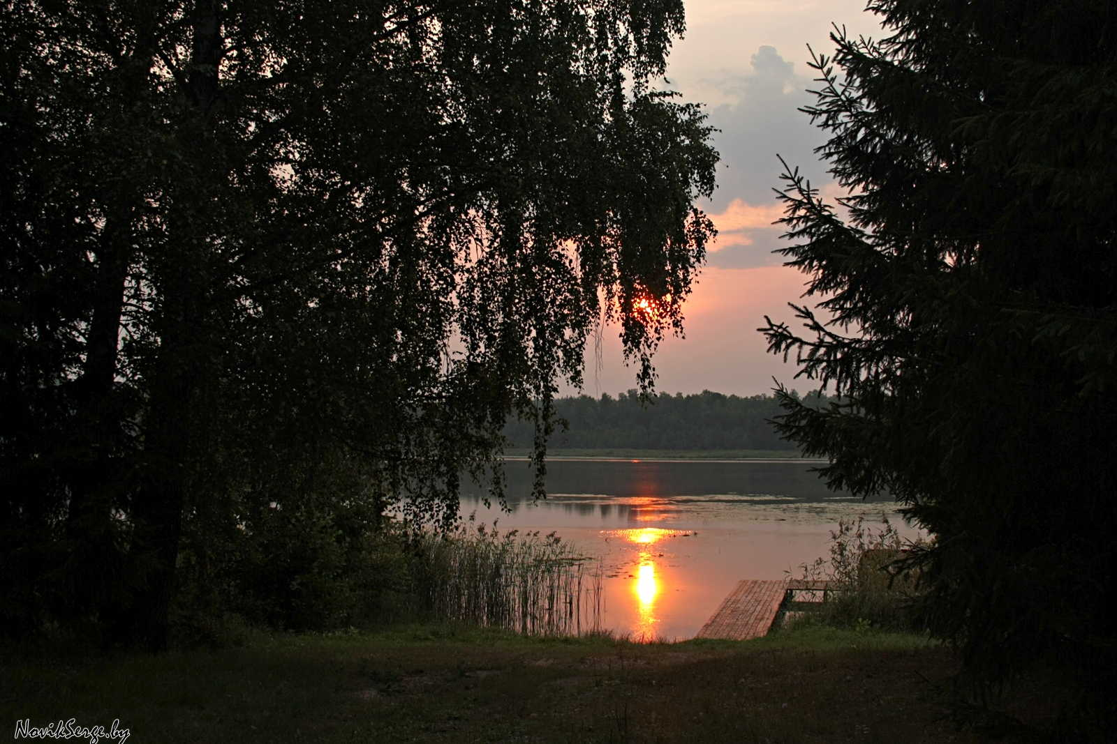 озеро Изубрица, рассвет