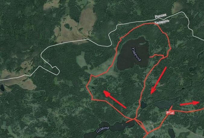 карта схема озеро Узвечье