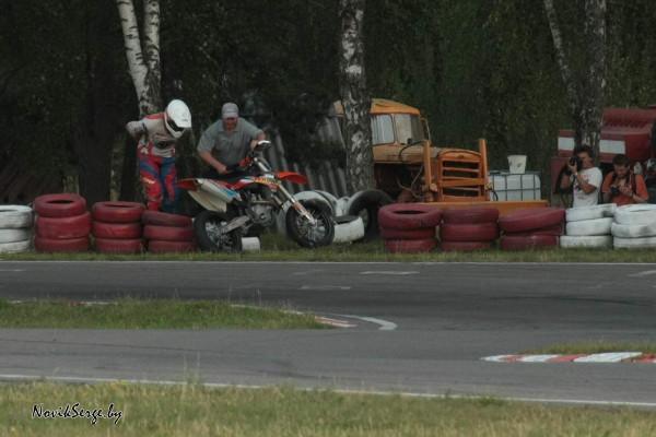 вылет, авария, мотоциклист