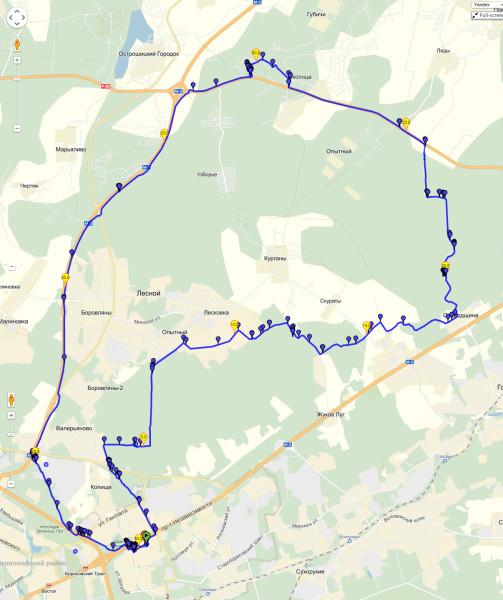 схема маршрута, карта